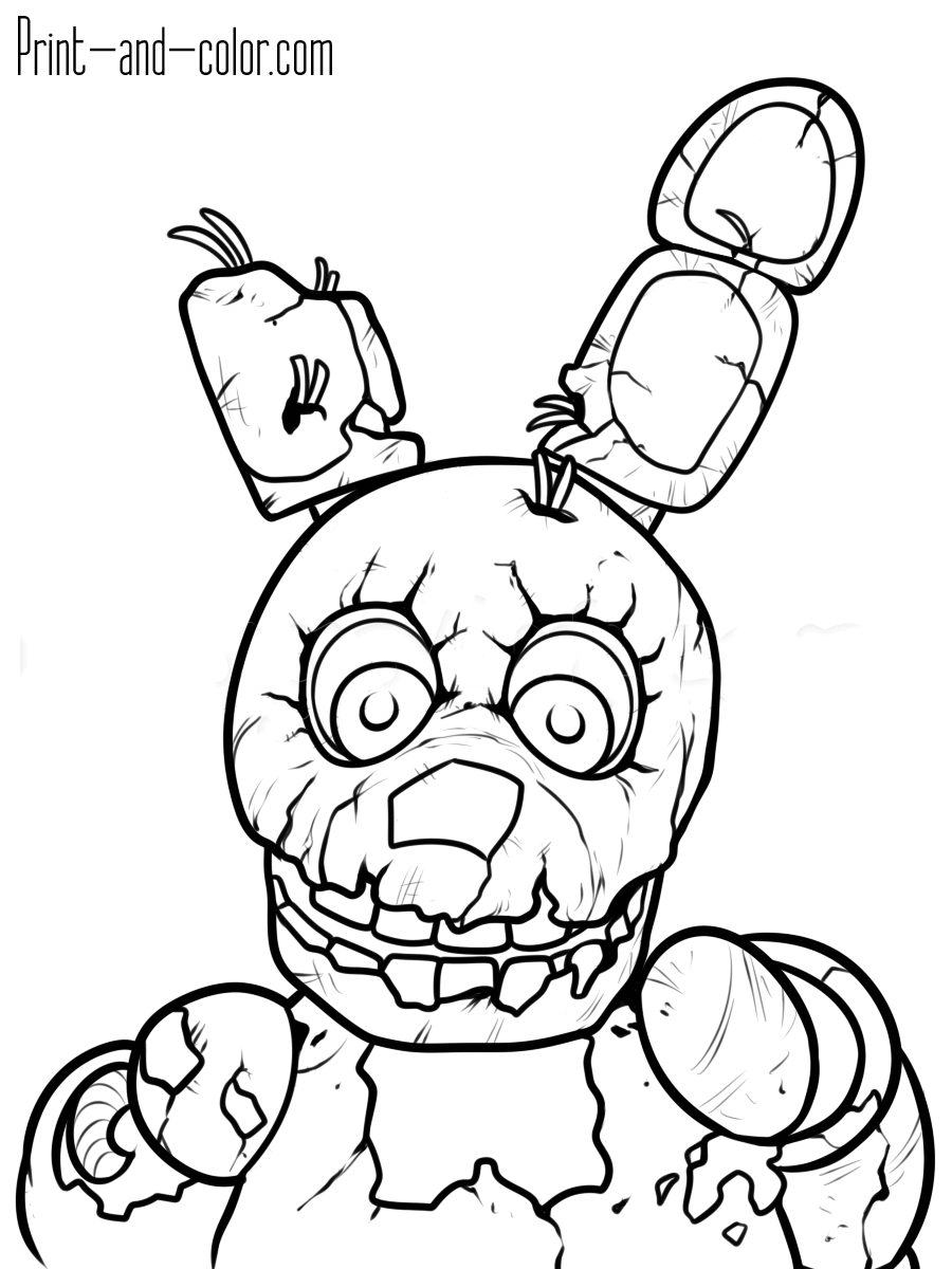 coloring pages 5 nights at freddys five nights at freddy39s coloring pages print and colorcom 5 nights coloring pages at freddys