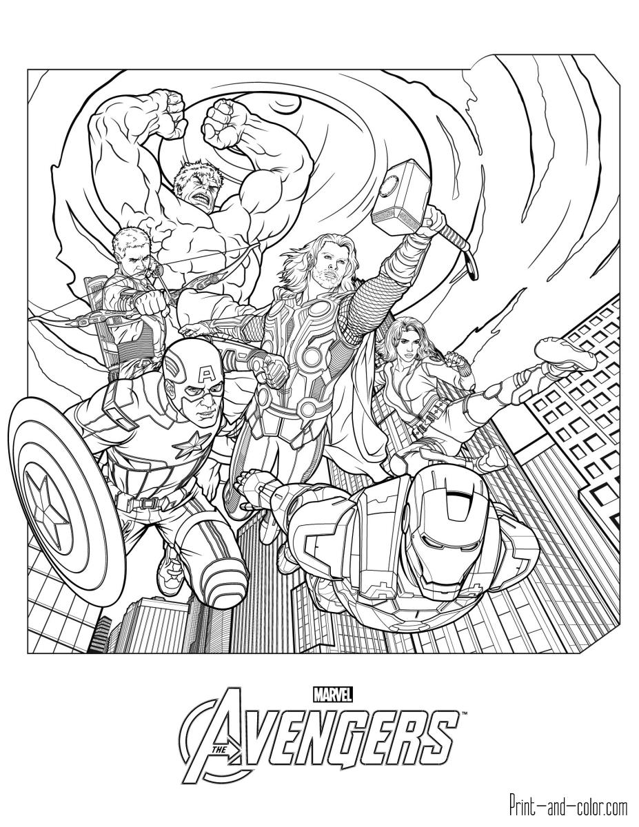 coloring pages avengers avengers coloring pages print and colorcom pages avengers coloring