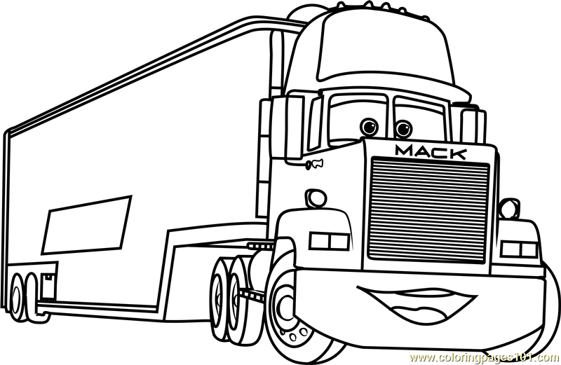 coloring pages cars mack mack from disney cars 2 coloring page download print coloring pages cars mack