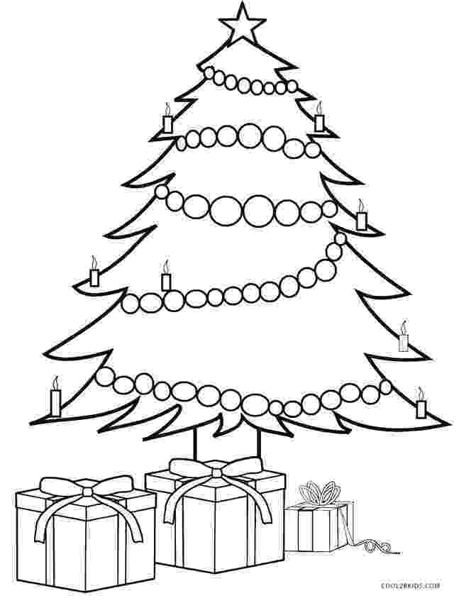 coloring pages christmas tree christmas tree with presents coloring page free christmas coloring tree pages