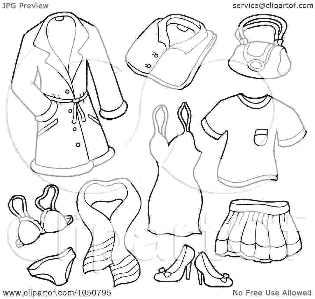 coloring pages clothes printable royalty free rf clip art illustration of a coloring page coloring clothes printable pages