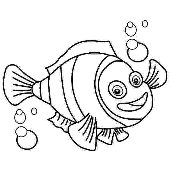 coloring pages clown fish nemo fish drawing at getdrawingscom free for personal coloring fish clown pages