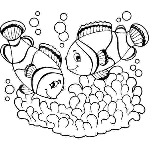 coloring pages clown fish picture of clown fish coloring pages best place to color pages fish clown coloring