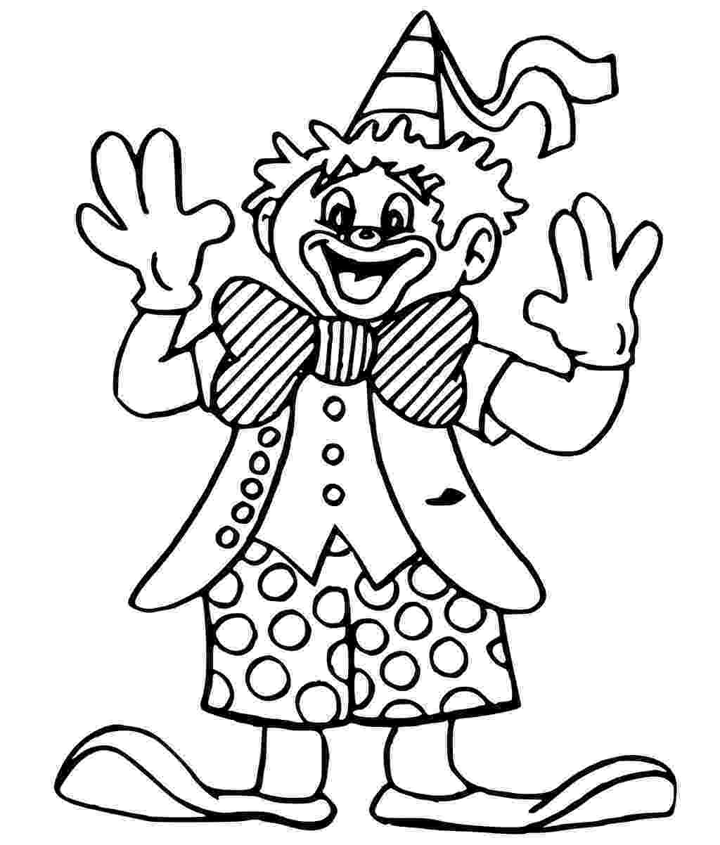 coloring pages clown smiling clown coloring pages hellokidscom coloring clown pages
