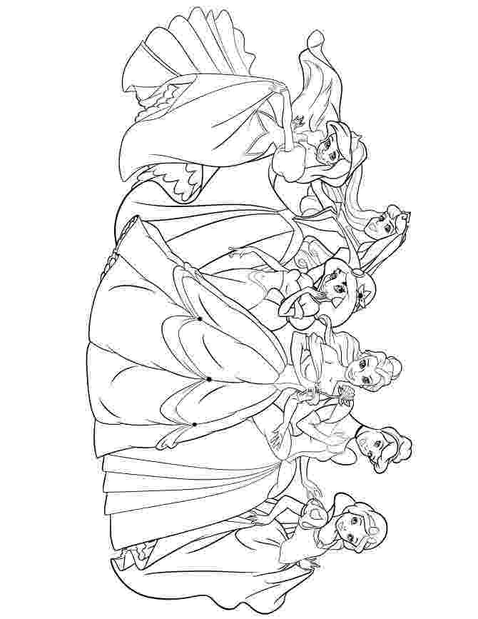 coloring pages disney princesses together all disney princesses together coloring pages at pages coloring disney princesses together