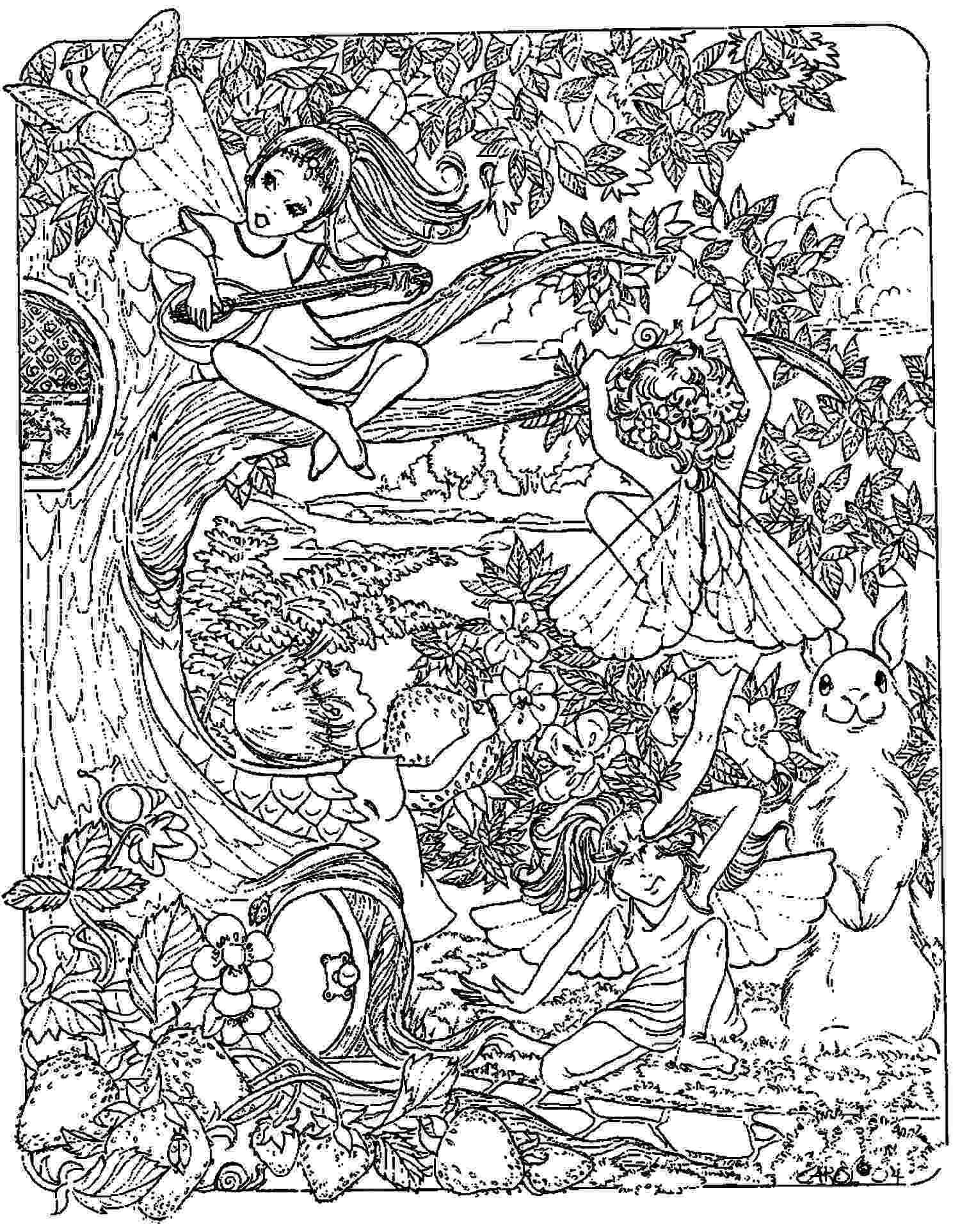 coloring pages fantasy adult fantasy coloring page digital download digi print coloring pages fantasy