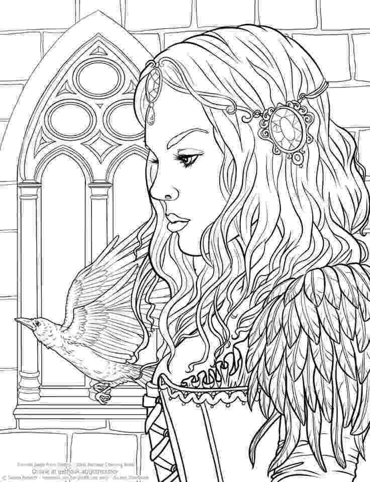 coloring pages fantasy fantasy child elves myths legends adult coloring pages fantasy pages coloring