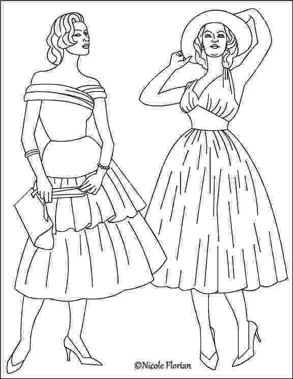 coloring pages fashion nicole39s free coloring pages vintage fashion coloring pages pages fashion coloring