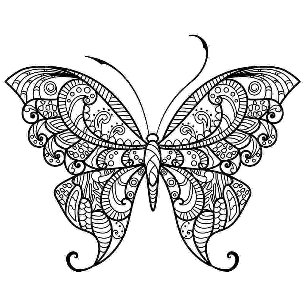 coloring pages for adults butterflies butterflies and bees adult coloring page favecraftscom adults for butterflies pages coloring
