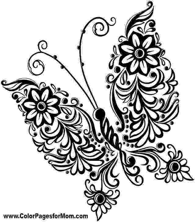 coloring pages for adults butterflies butterfly beautiful patterns 5 butterflies insects coloring for butterflies adults pages