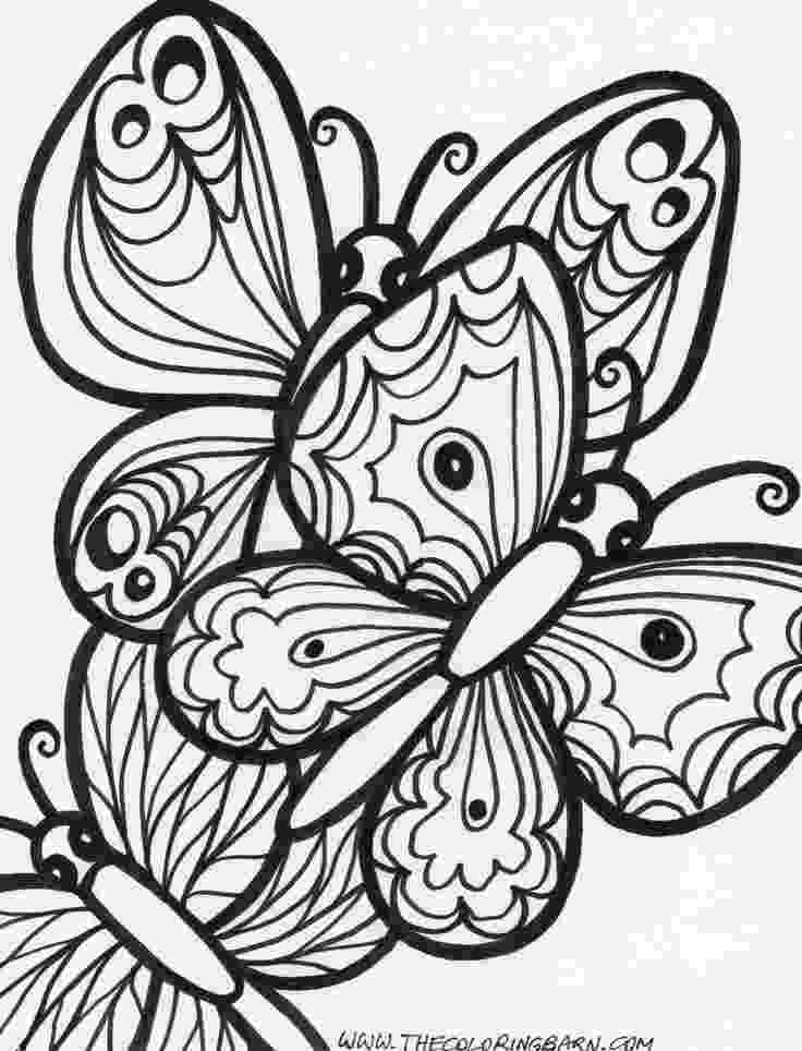 coloring pages for adults butterflies printable butterfly coloring pages for kids cool2bkids for coloring adults butterflies pages