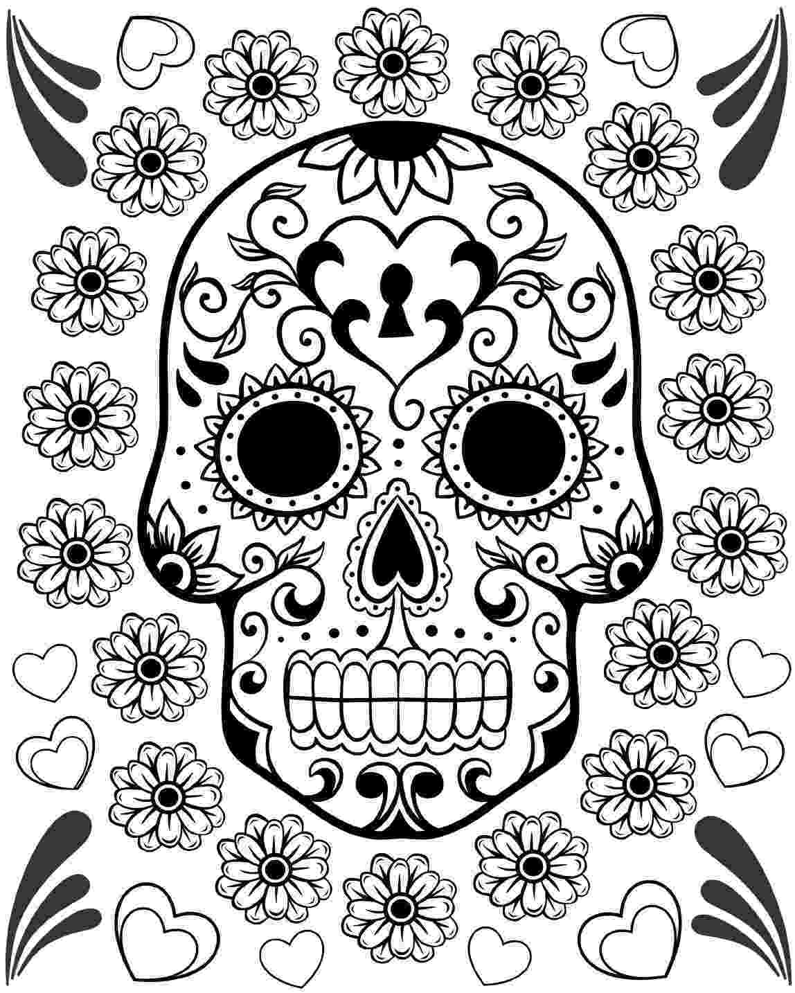 coloring pages for adults day of the dead 10 more sugar skull day of the dead original art coloring book adults the day for dead pages of coloring