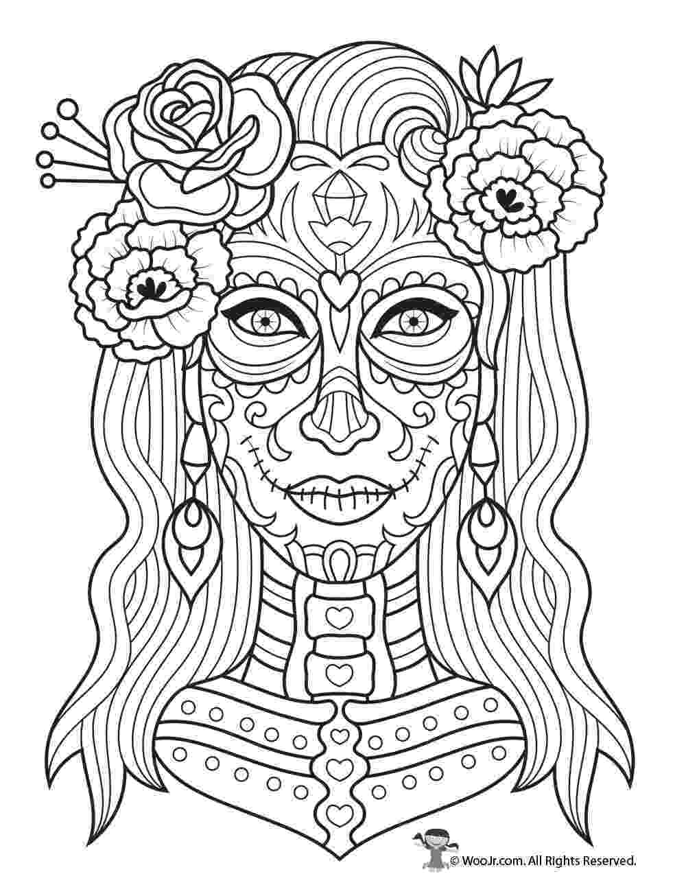coloring pages for adults day of the dead 170 best sugar skulls calavera coloring art print pages adults the of for coloring dead pages day