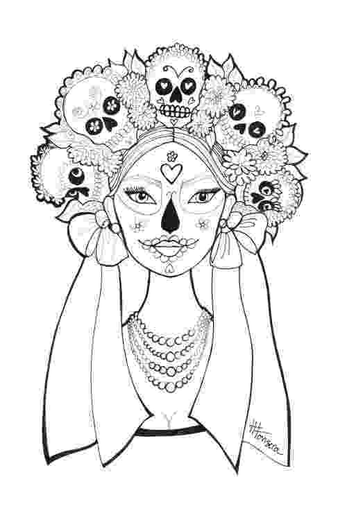 coloring pages for adults day of the dead day of the dead coloring pages by heather fonseca coloring dead pages of adults the for day