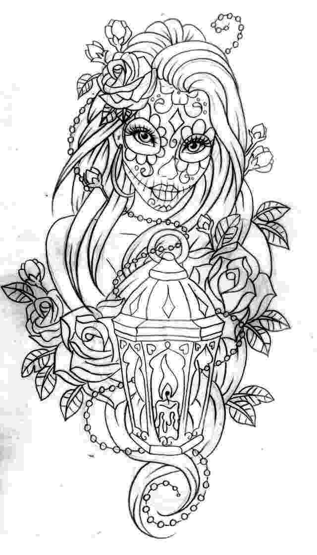 coloring pages for adults day of the dead day of the dead coloring pages for adults at getdrawings pages day dead of adults coloring the for