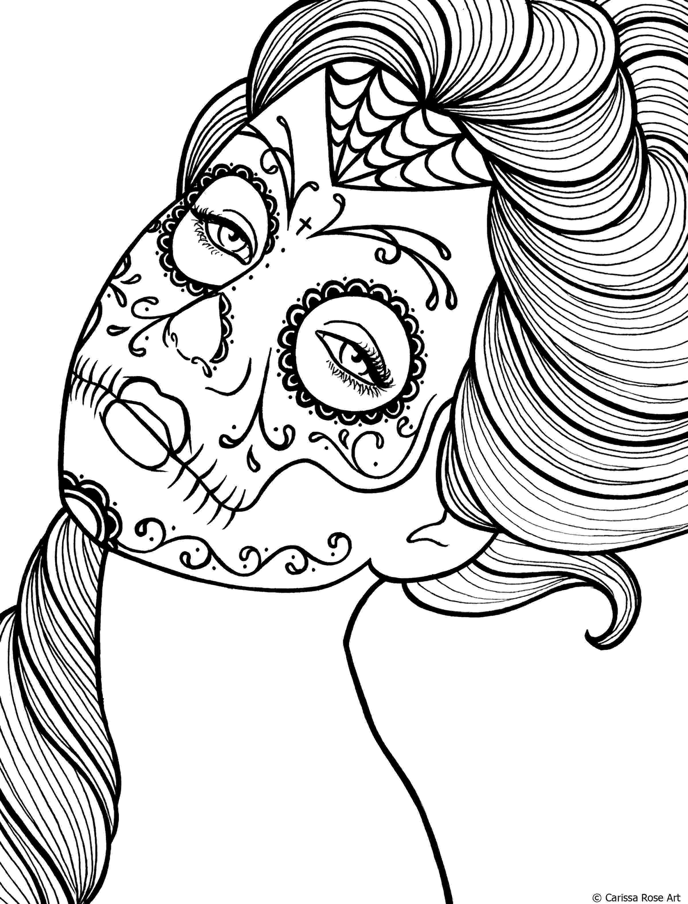 coloring pages for adults day of the dead day of the dead el dia de los muertos adult coloring pages the pages adults dead for of day coloring