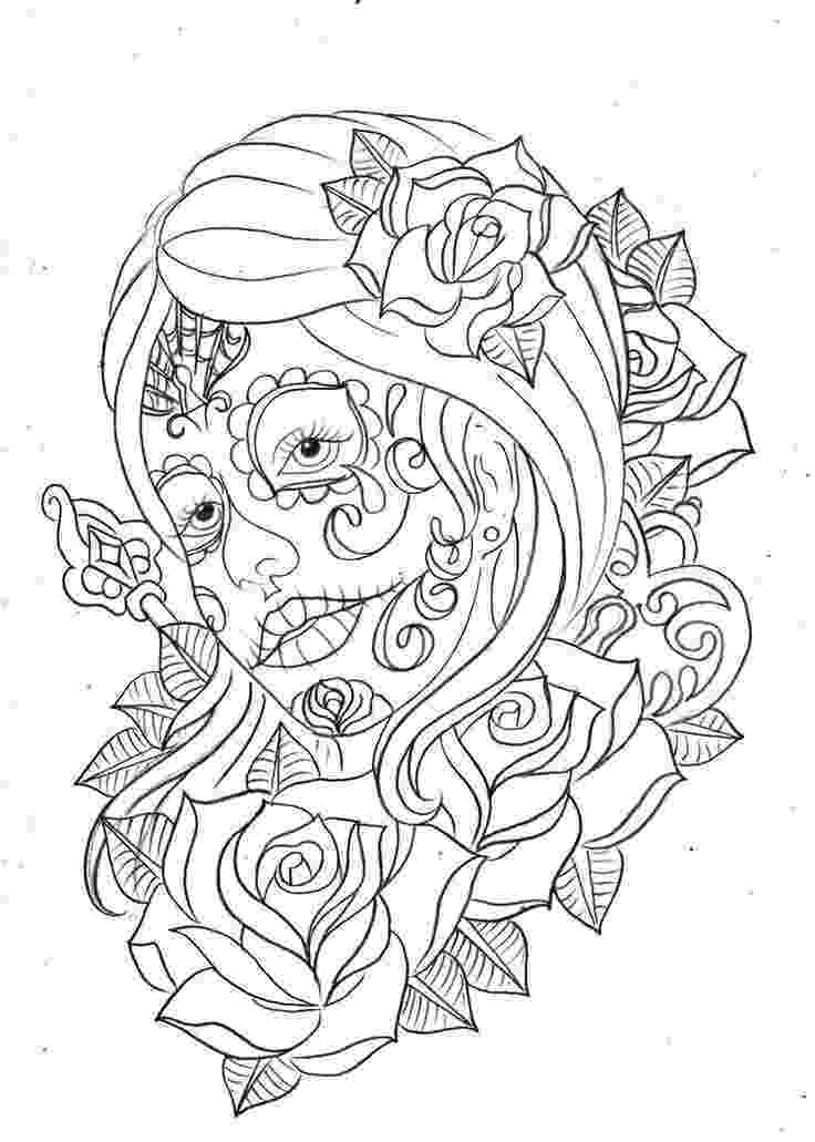 coloring pages for adults day of the dead free printable day of the dead coloring book page by day dead for the pages coloring adults of