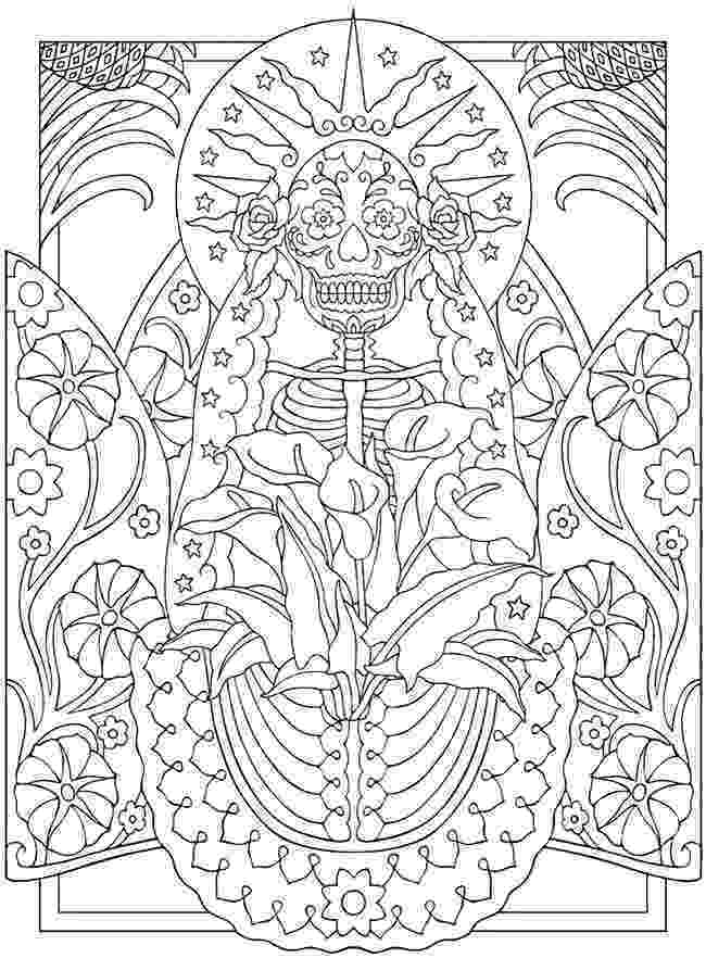 coloring pages for adults day of the dead free printable day of the dead coloring pages best day coloring pages adults for of the dead