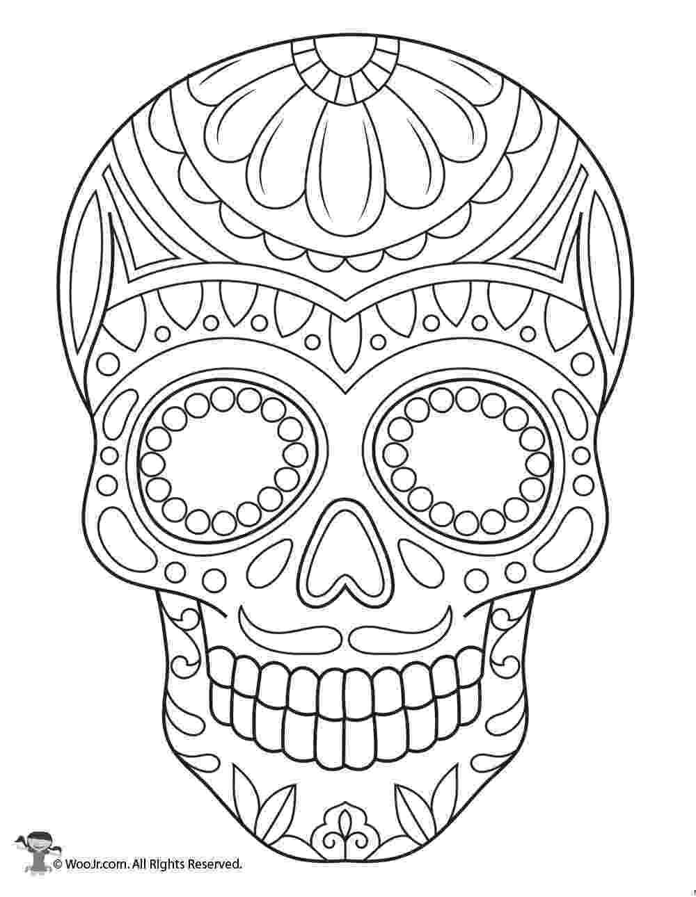 coloring pages for adults day of the dead sugar skull coloring page woo jr kids activities coloring adults of pages day dead the for