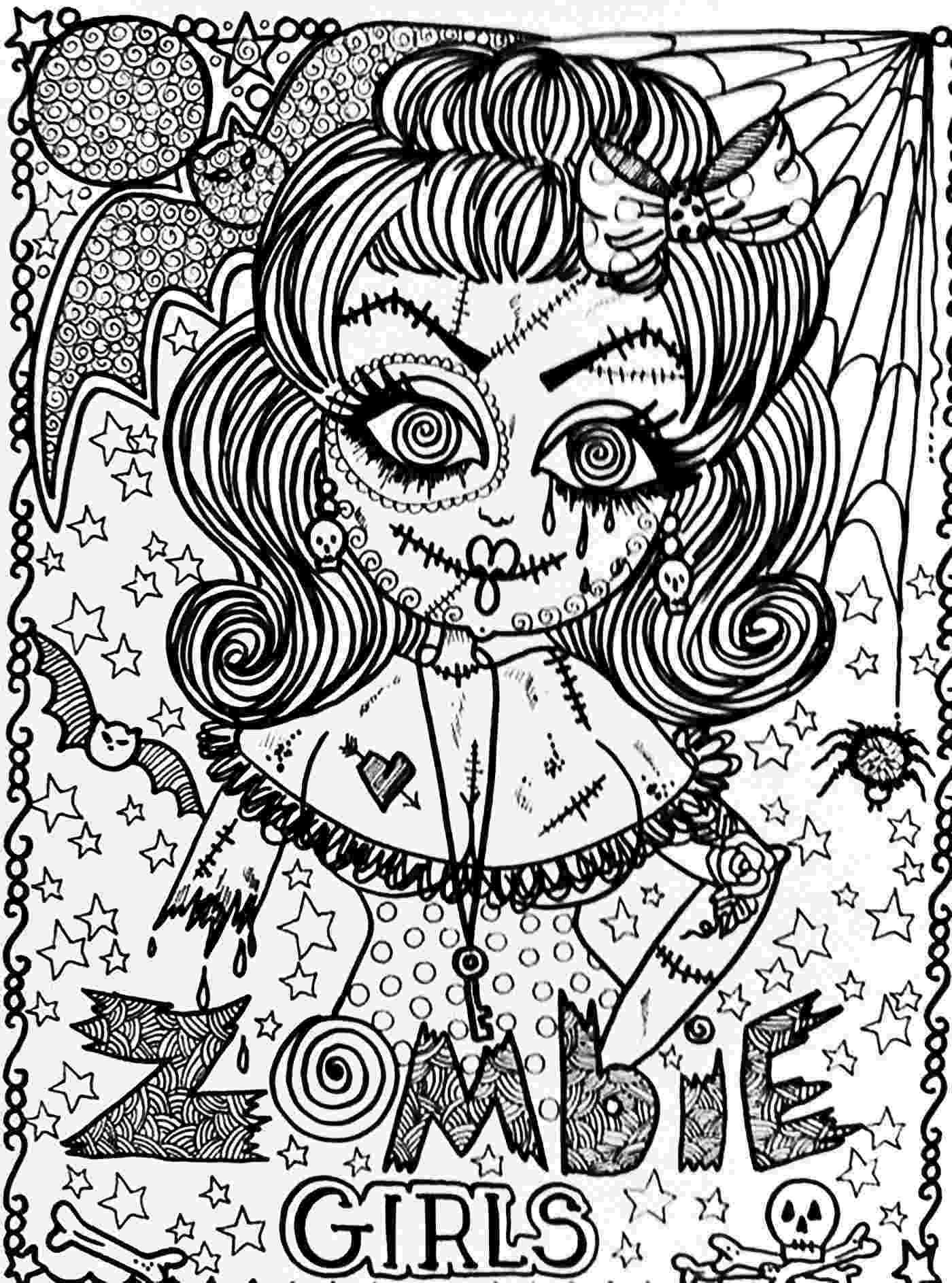 coloring pages for adults halloween halloween zombie girl halloween adult coloring pages adults for halloween pages coloring