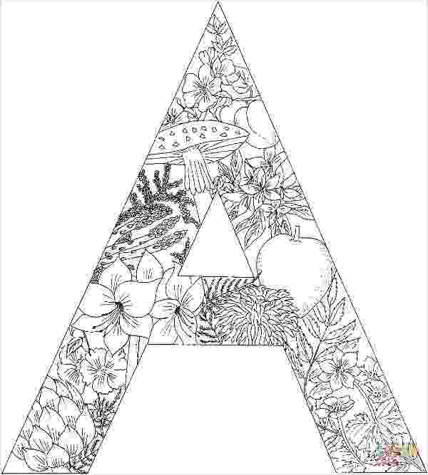 coloring pages for adults letter alphabet coloring pages grown up coloring printables letter for adults coloring pages