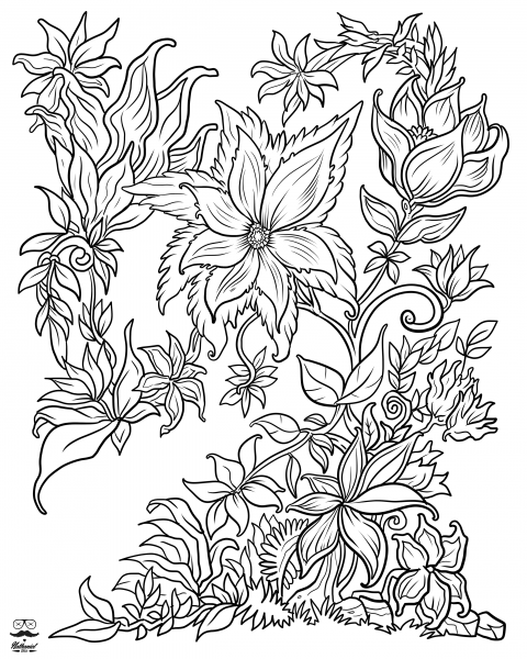 coloring pages for adults to print flowers floral fantasy digital version adult coloring book pages flowers coloring to for adults print