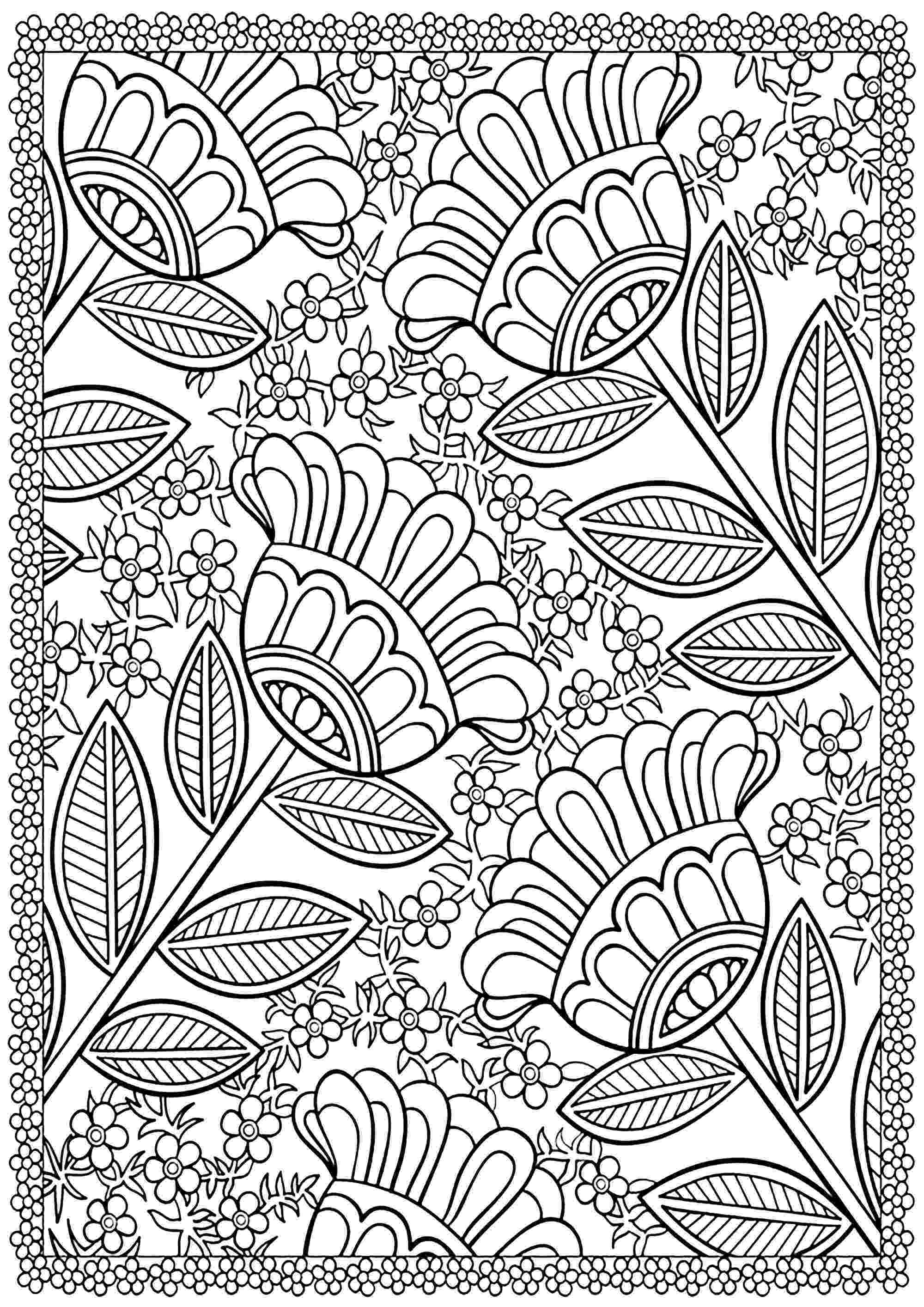 coloring pages for adults to print flowers flower vase flower coloring pages coloring pages flowers print coloring pages to adults for