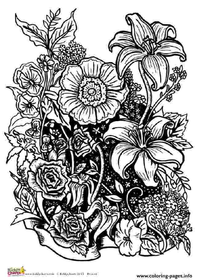 coloring pages for adults to print flowers flower with many petals flowers adult coloring pages coloring to pages print flowers for adults