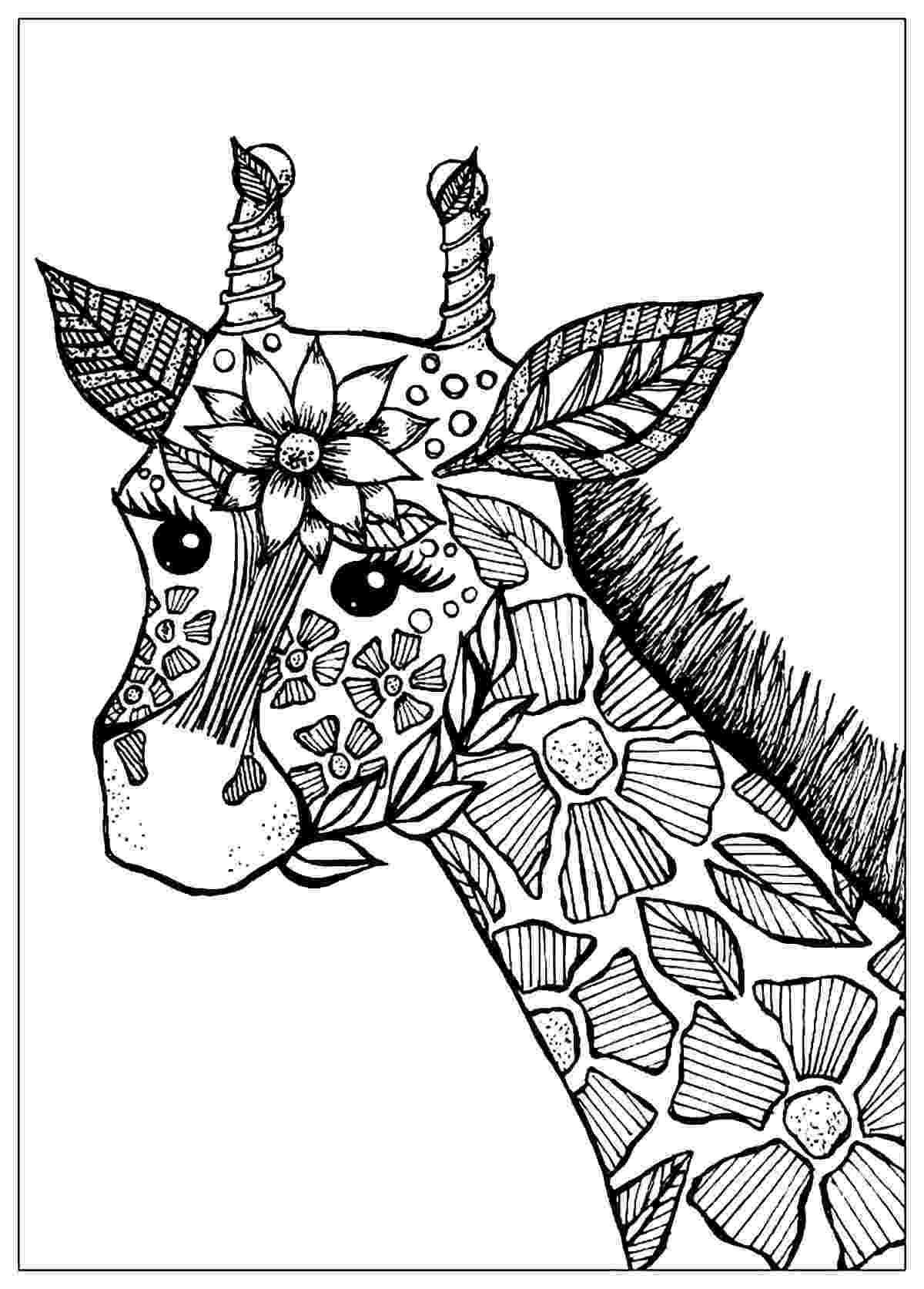 coloring pages for adults to print flowers giraffe head with flowers giraffes adult coloring pages for pages coloring print adults flowers to