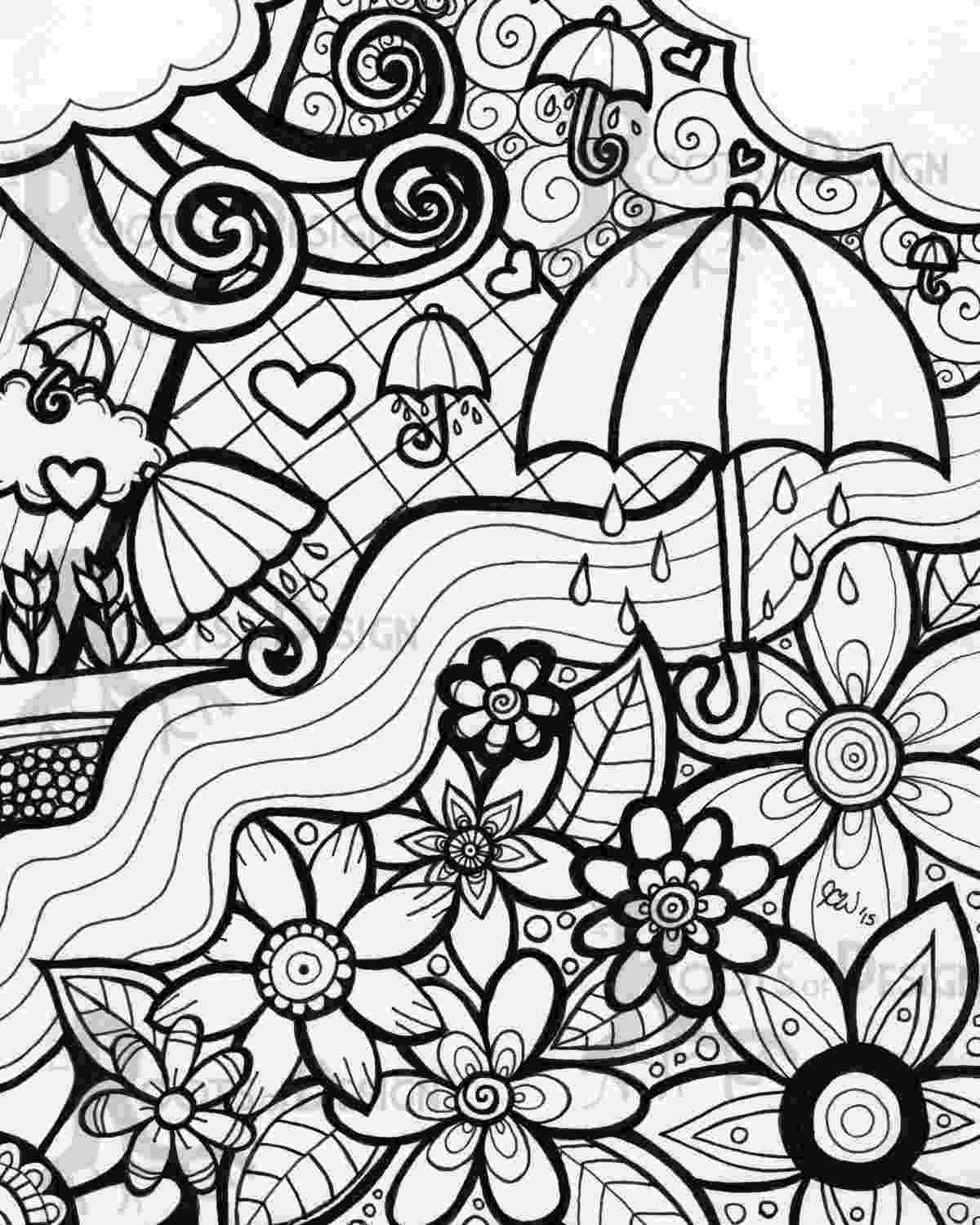 coloring pages for adults to print flowers instant download coloring page april showers bring by to adults for print pages coloring flowers