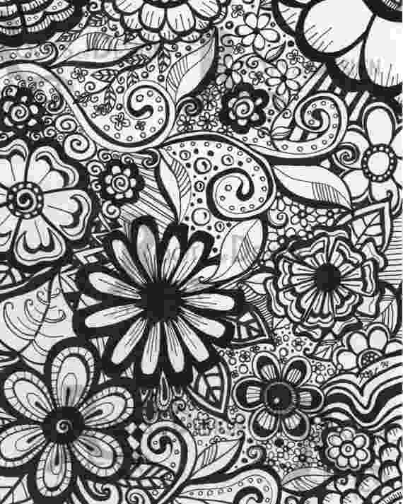 coloring pages for adults to print flowers instant download coloring page flowers art print zentangle coloring flowers to pages for adults print