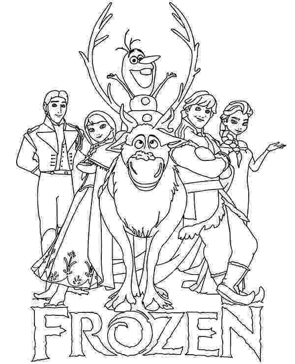 coloring pages for frozen characters coloring page of frozen characters coloring pages for characters frozen pages coloring