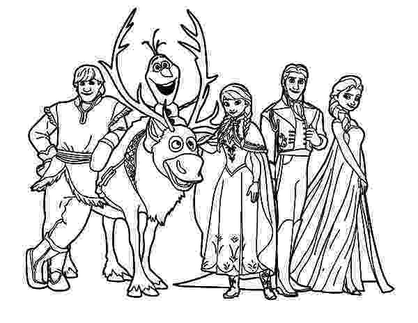 coloring pages for frozen characters frozen characters drawing at getdrawingscom free for pages characters for frozen coloring