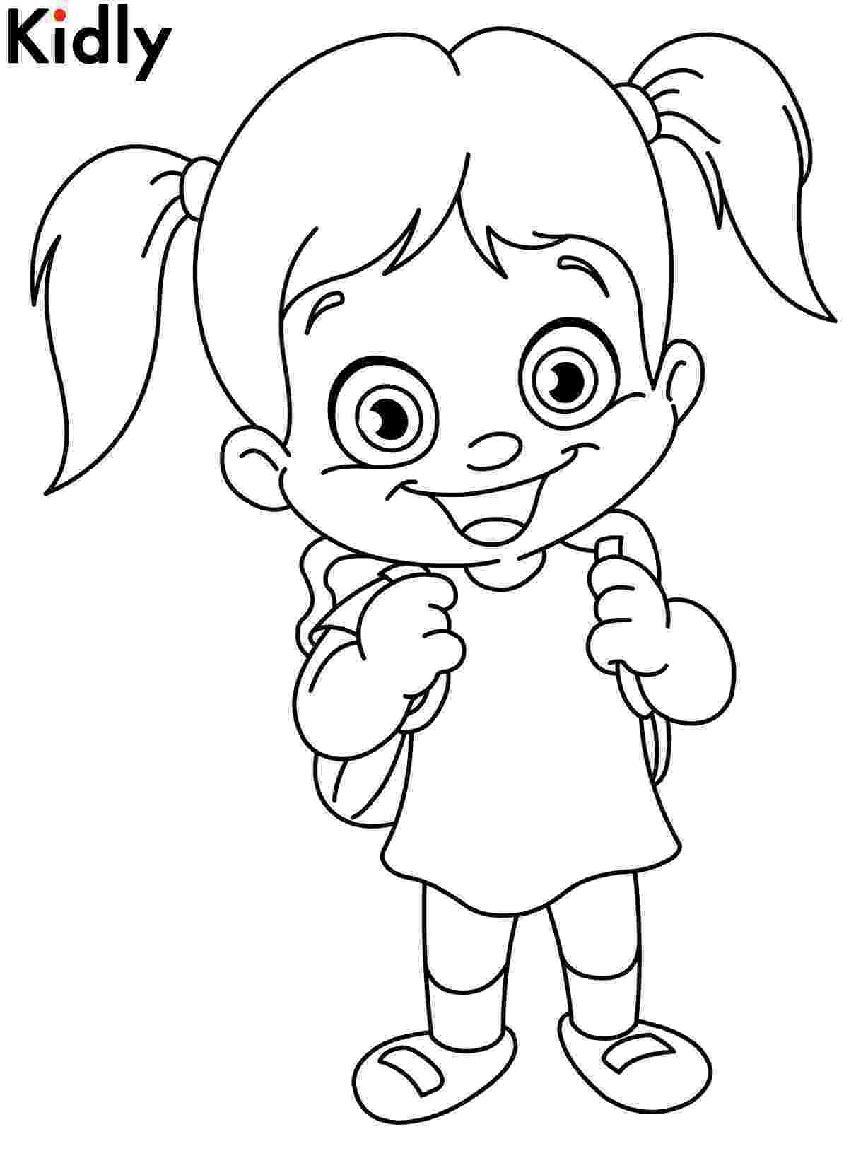 coloring pages for girls printable happy girl coloring pages download and print for free pages printable for coloring girls