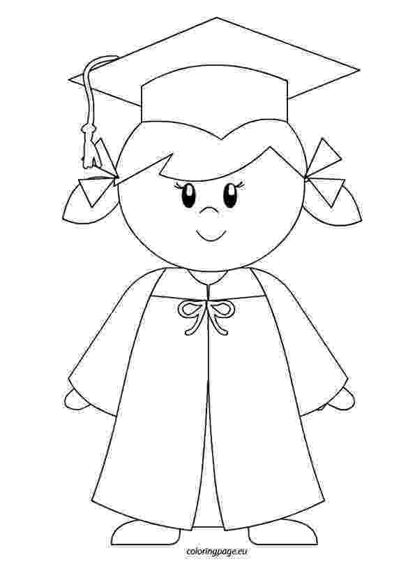 coloring pages for graduation kindergarten graduate girl coloring page to color coloring for graduation pages