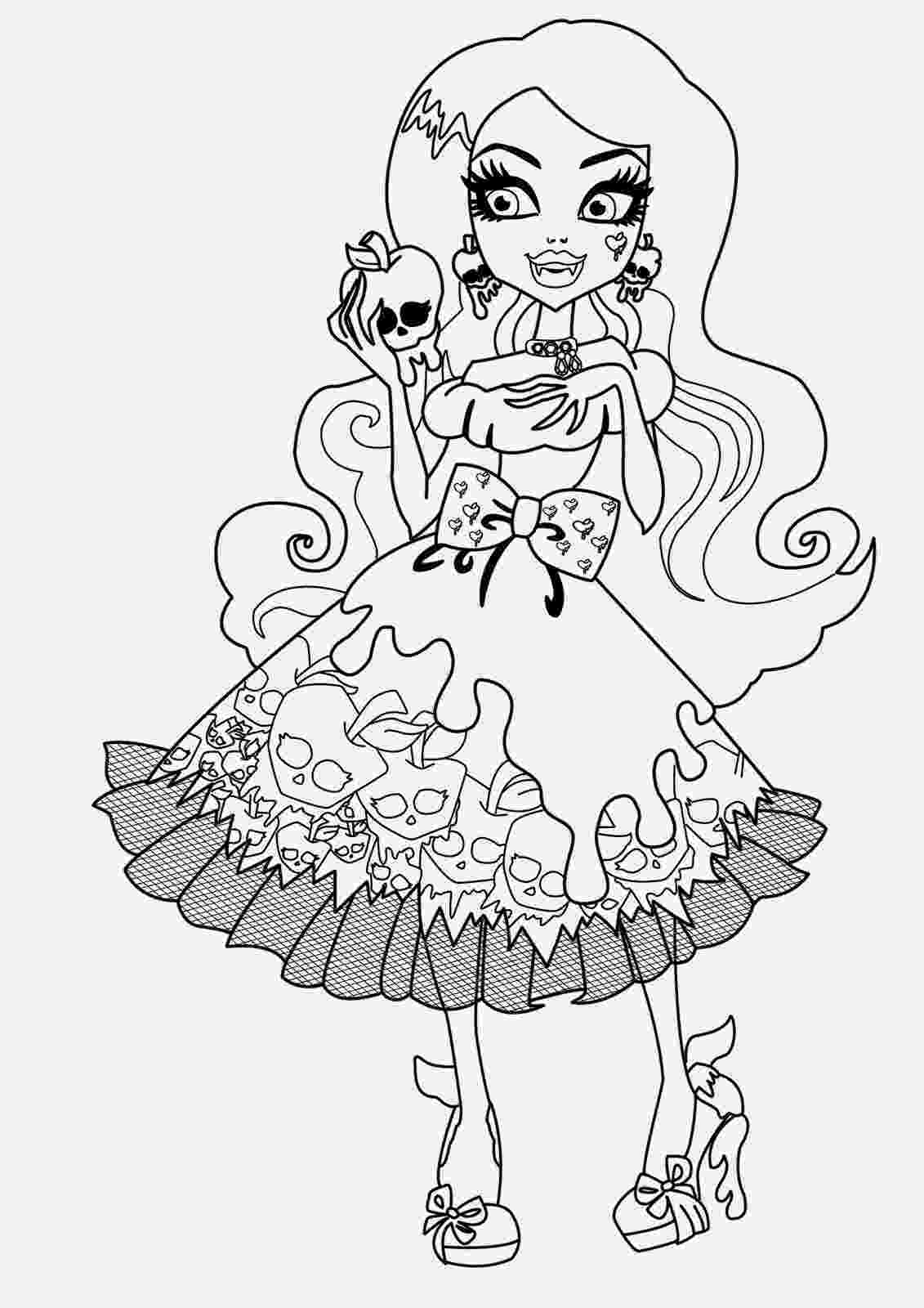 coloring pages for monster high monster high jinafire long coloring pages free printable pages for high monster coloring