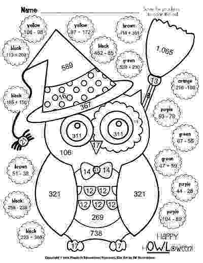 coloring pages for second graders flapjack educational resources hquotowlquotoween poke math graders coloring second pages for