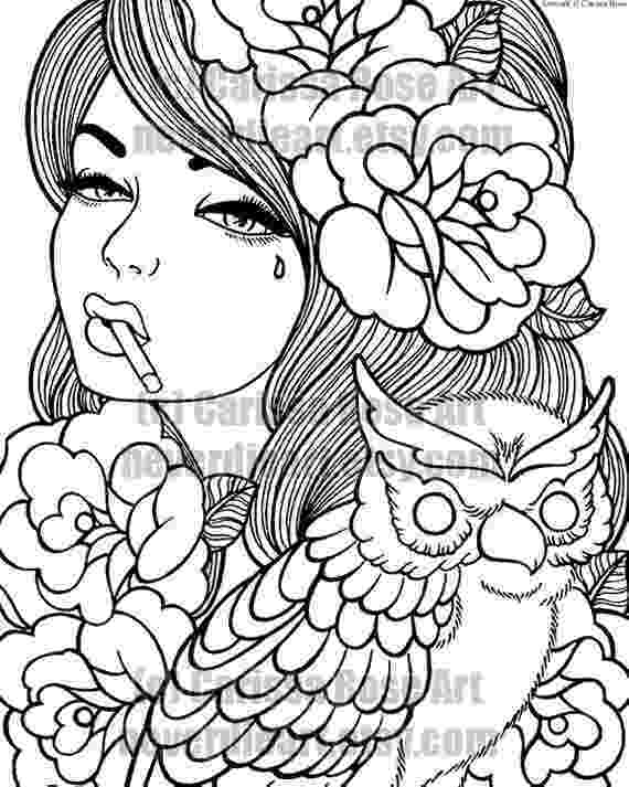 coloring pages for tattoos digital download print your own coloring book outline page pages coloring tattoos for