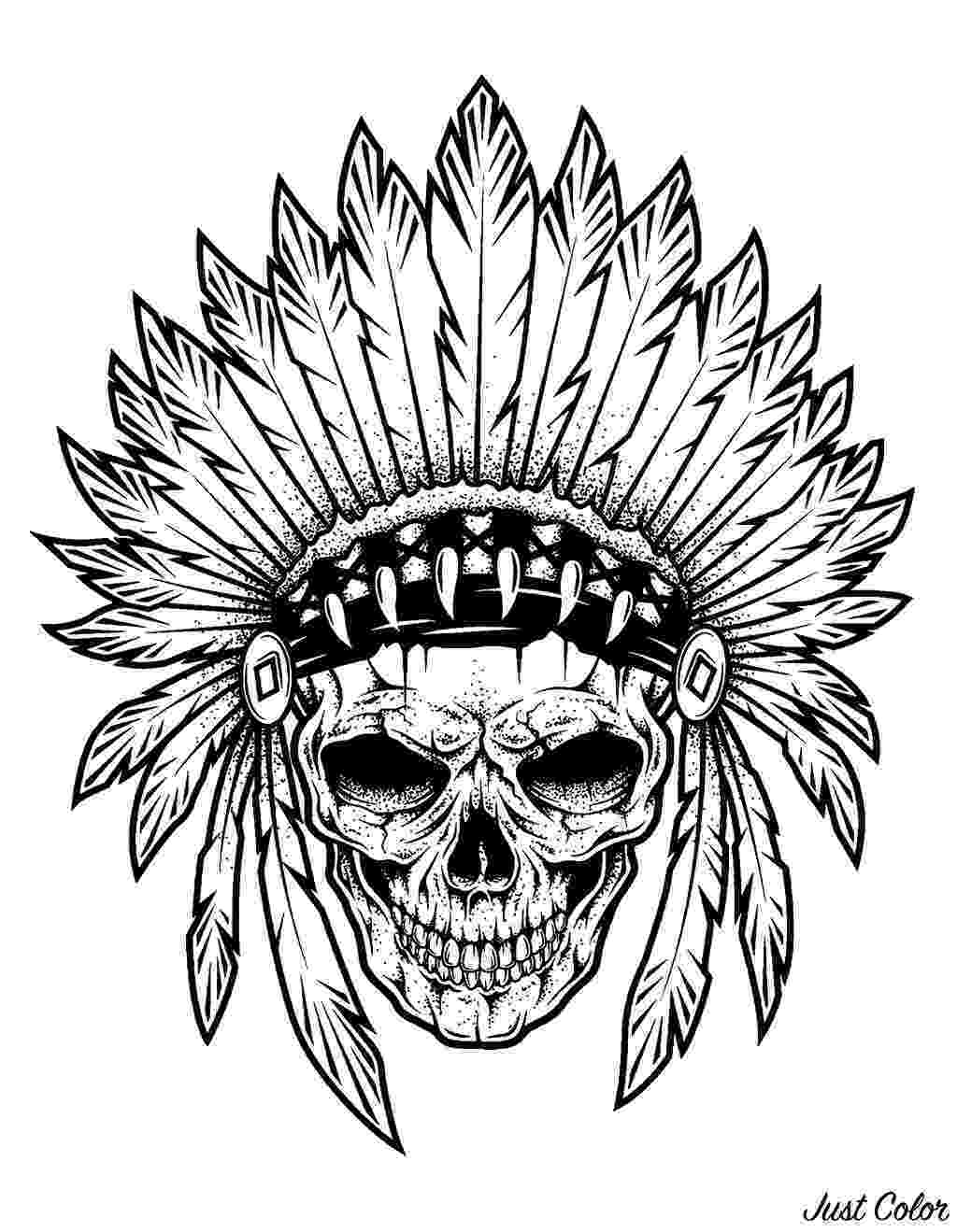 coloring pages for tattoos tattoo indian chief skull tattoos adult coloring pages pages coloring tattoos for