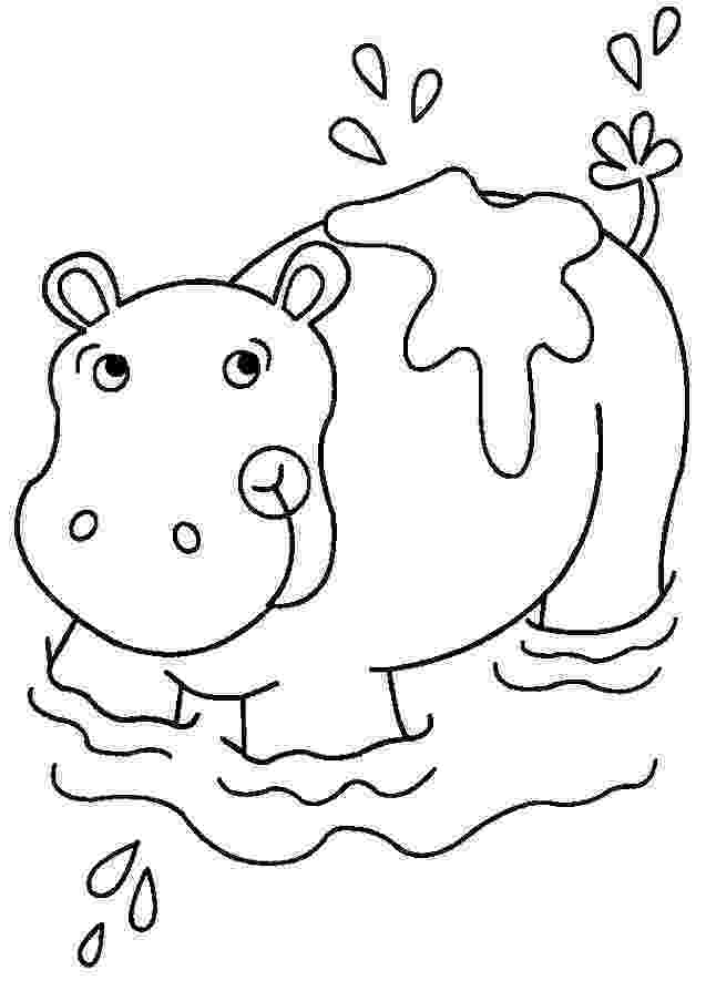 coloring pages hippo free printable hippo coloring pages for kids hippo coloring pages