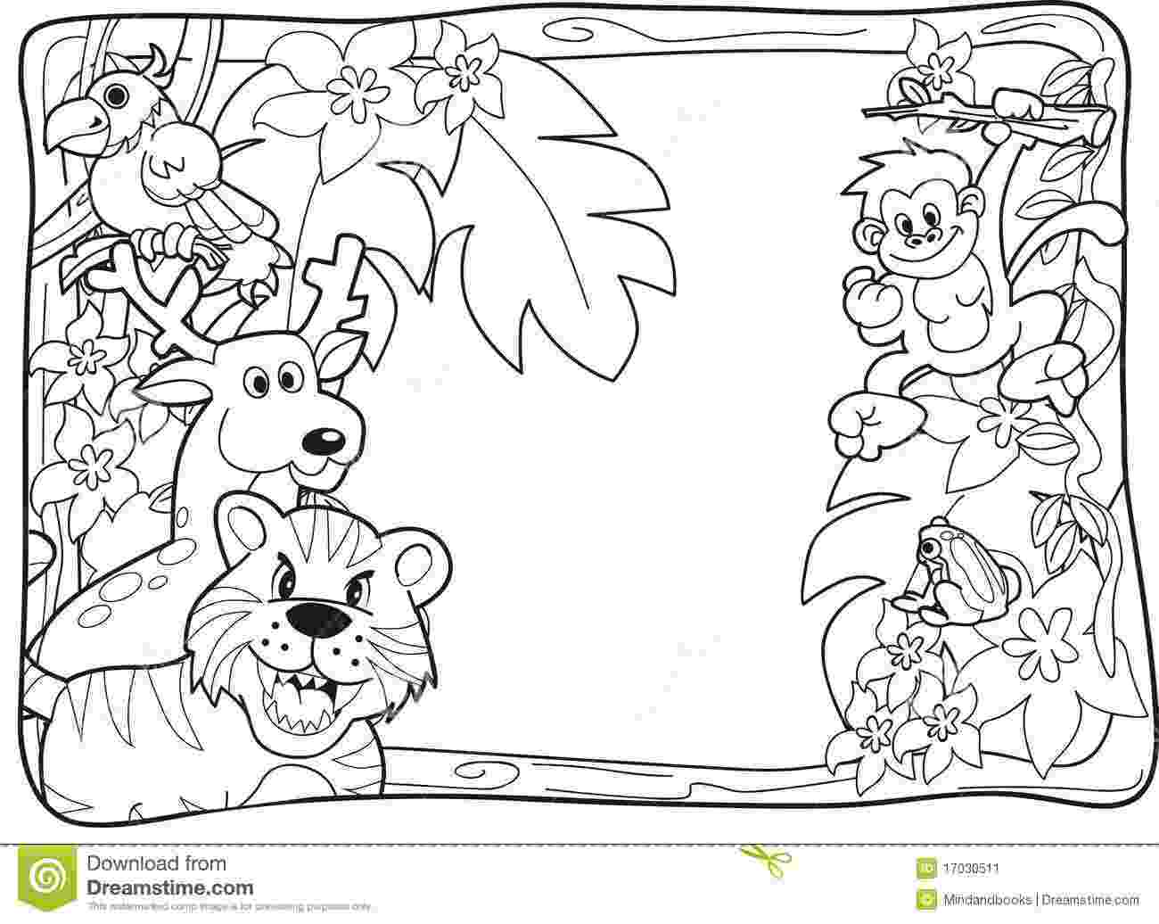 coloring pages jungle jungle animal coloring pages to download and print for free pages coloring jungle