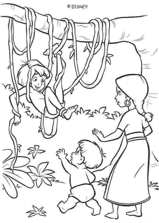 coloring pages jungle kids are playing in the jungle coloring pages hellokidscom pages jungle coloring
