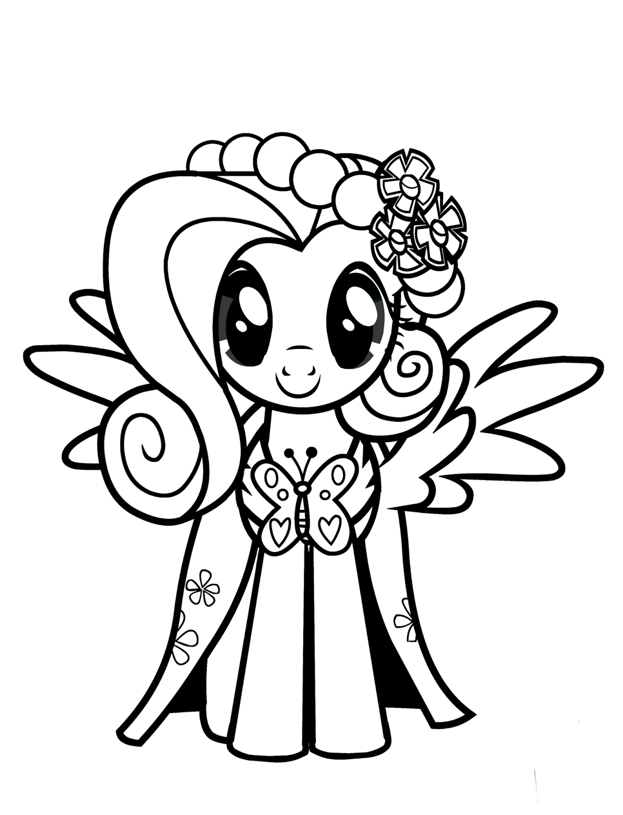 coloring pages little pony my little pony fluttershy coloring pages for kids little pages coloring pony