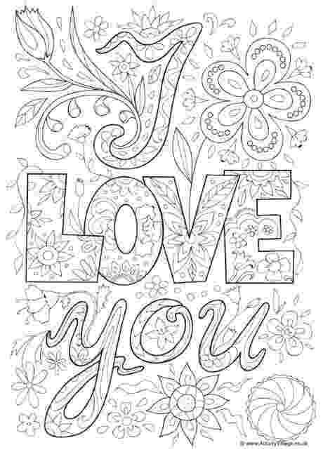 coloring pages love you i love you doodle colouring page with images love love coloring you pages