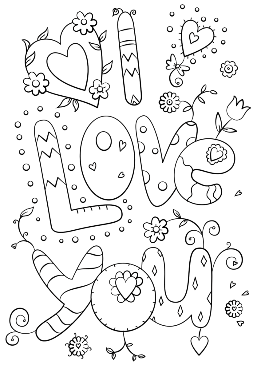 coloring pages love you quoti love you quot coloring pages coloring you love pages