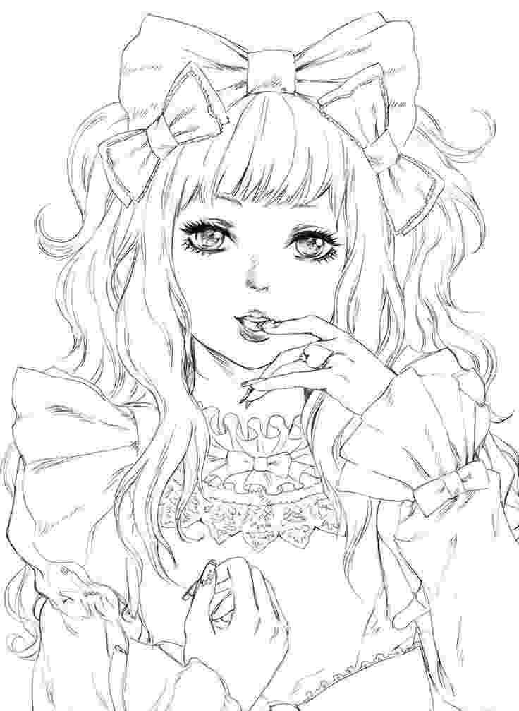 coloring pages manga coloring coloriage manga femme kawaii coloriage coloring pages manga
