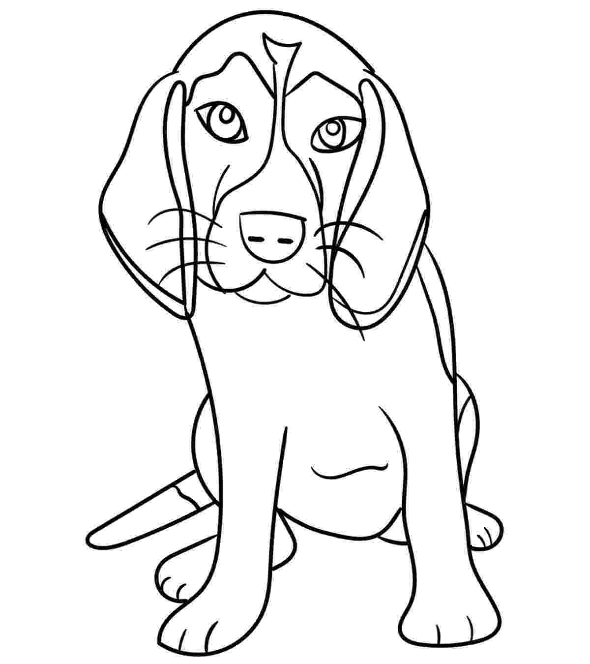coloring pages of a dog free printable dog coloring pages for kids pages a of coloring dog