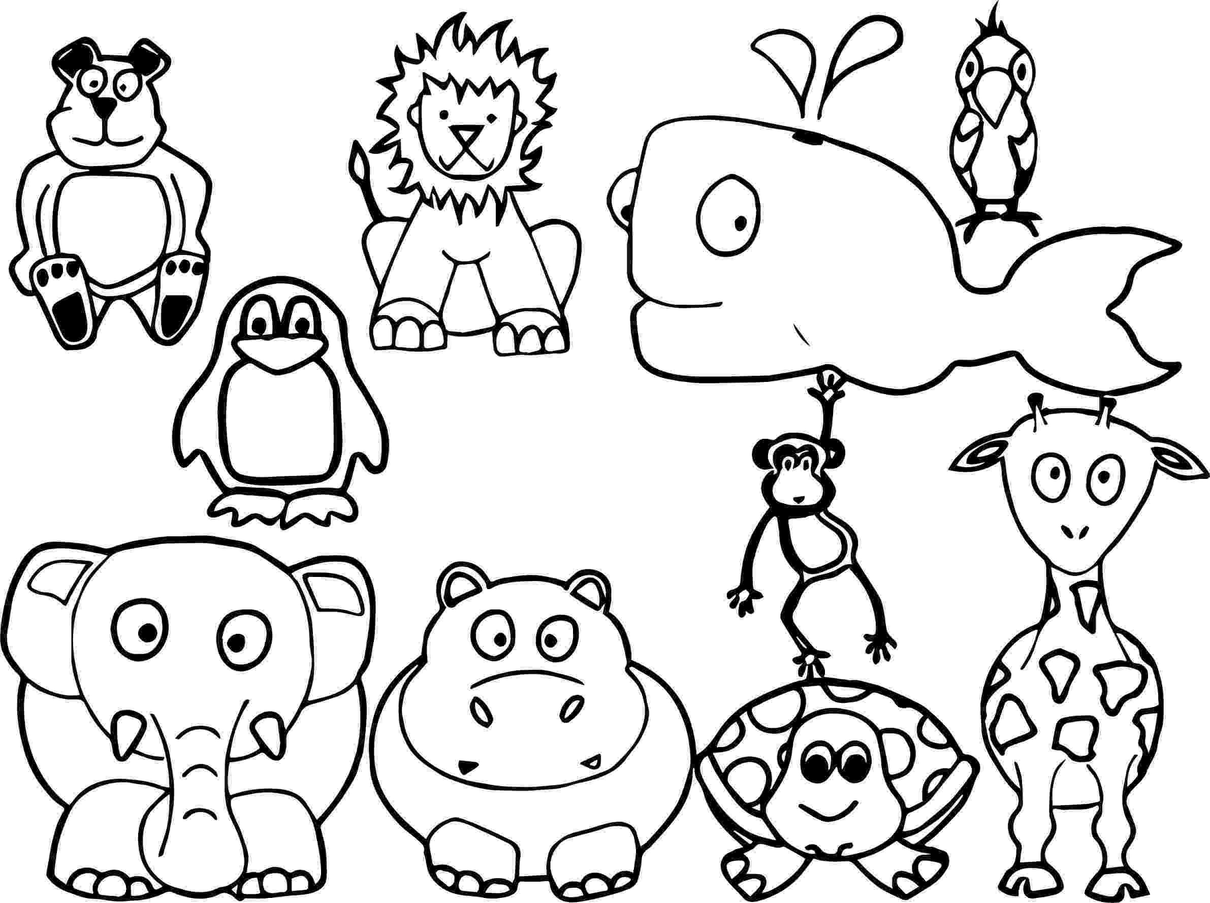 coloring pages of animals awesome baby jungle free animal coloring page coloring pages of animals