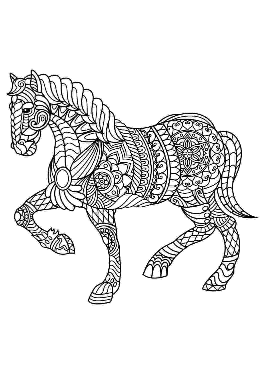coloring pages of animals horses animal coloring pages pdf horse coloring pages mandala coloring horses of animals pages