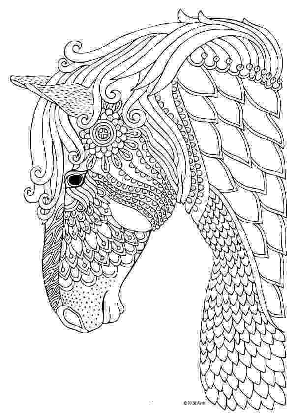 coloring pages of animals horses horse coloring page for adults adultcoloring pages coloring animals of horses